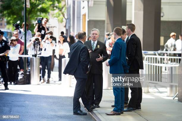 Police Secret Service and the press await the arrival of Kim Yong Chol the Vice Chairman of North Korea at the Millennium Hotel in New York The North...