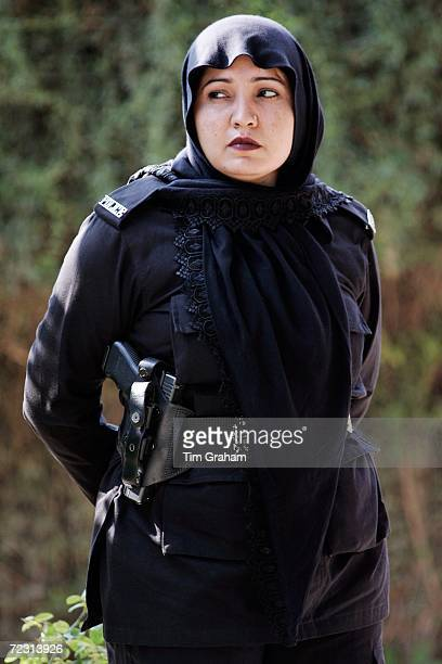 Police security at the all female Fatima Jinnah University during the royal visit on October 31, 2006 in Rawalpindi, Pakistan. Prince Charles and the...