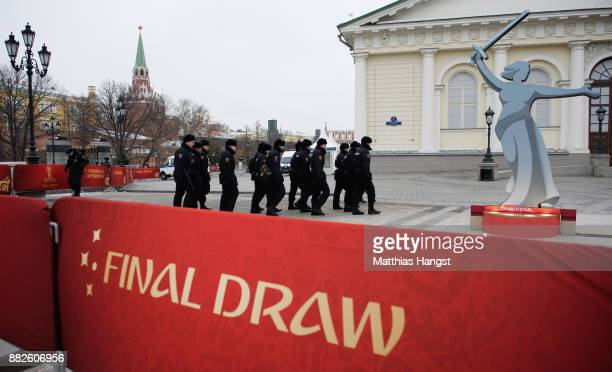 Police seen near the Kremlin prior to the 2018 FIFA World Cup Draw on November 30 2017 in Moscow Russia
