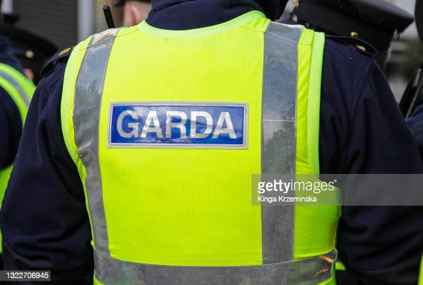 police sign - ireland stock pictures, royalty-free photos & images