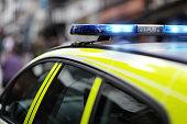 Police siren at accident or crime scene