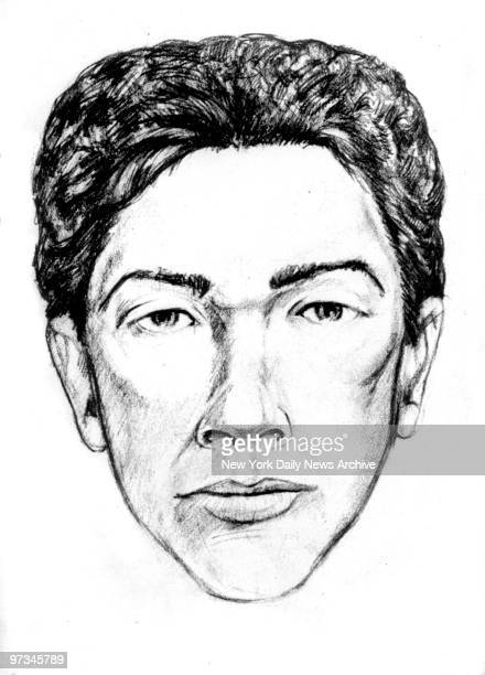 Police sketch for David Son of Sam Berkowitz Drawing is based on descriptions by witnesses to shootings of Stacy Moskowitz and Robert Violante