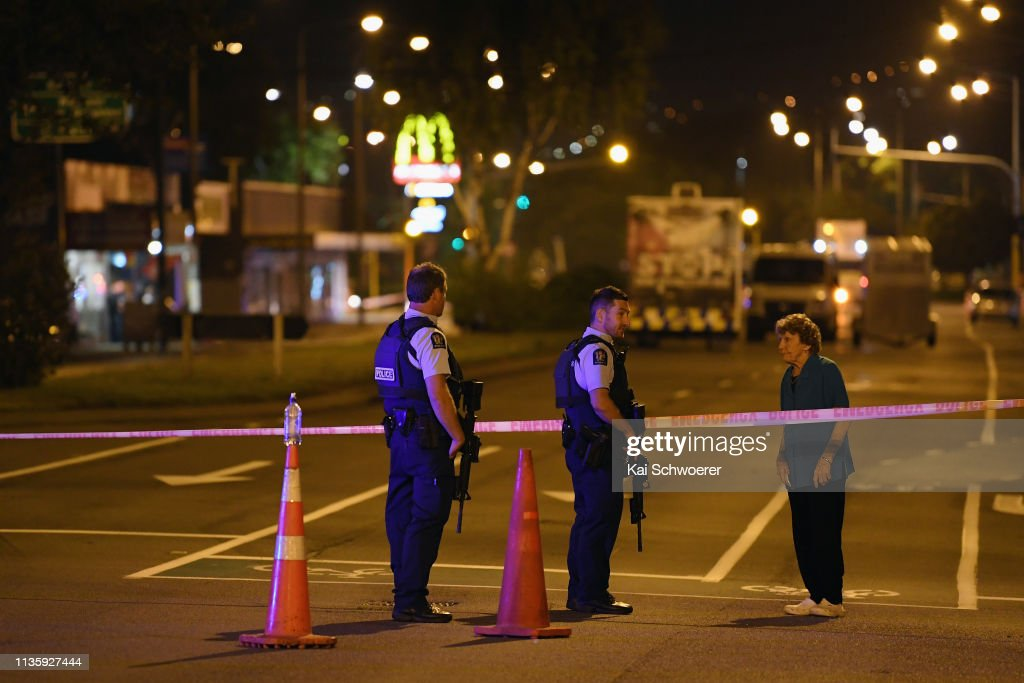 Multiple Fatalities Following Christchurch Mosque Shootings : News Photo