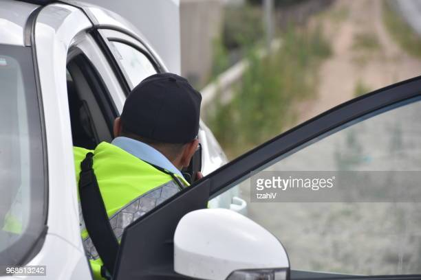 police speed enforcement - israel police arrest stock pictures, royalty-free photos & images