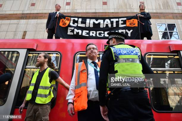 GBR: Climate demonstrators block London roads