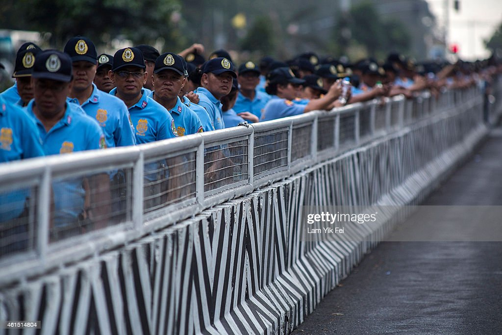 Manila Prepares For The Arrival Of Pope Francis : News Photo