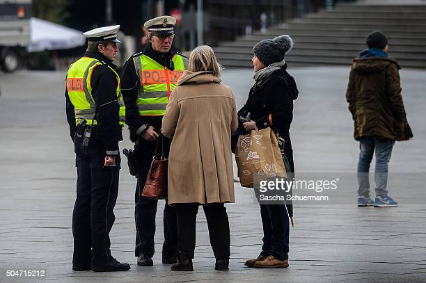 Police stand guard in front of Hauptbahnhof main railway station where on New Year's Eve gangs of what victims described as North African men...