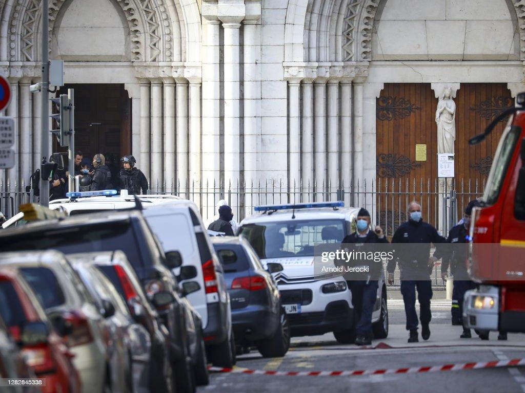 Nice Church Terrorist Attack Aftermath : News Photo