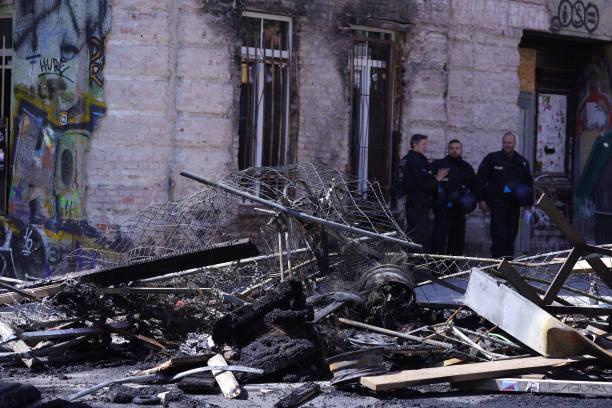 DEU: Protests Turn Violent At Rigaer Strasse