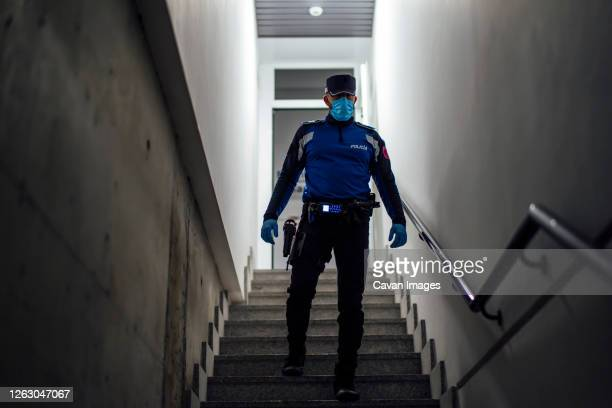 police starting their work day on the night shift - madrid stock pictures, royalty-free photos & images