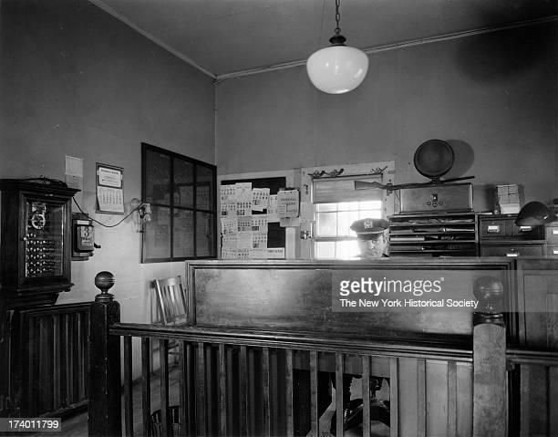 Police Station East Rockaway Long IslandInteriorLieutenant's Desk East Rockaway New York 1920s