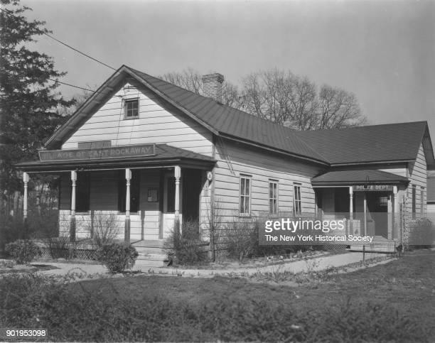 Police Station exterior East Rockaway New York 1929