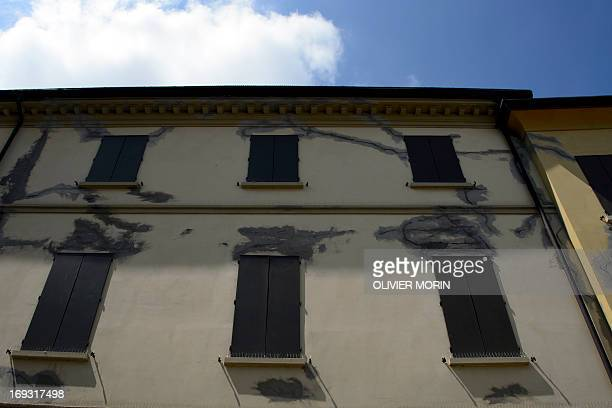 A police station had been repaired in Mirandola on May 22 2013 a year after an earthquake in the Emilia Romagna Reconstruction efforts in Emilia...