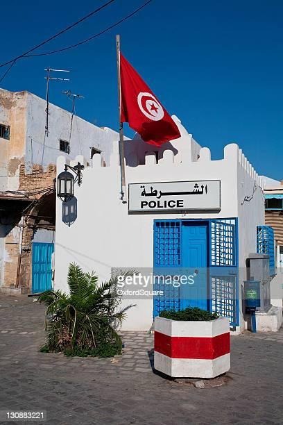 police station in tunis, tunisia, africa - tunesien stock-fotos und bilder
