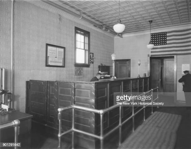 Police Station interior of desk Valley Stream New York 1929