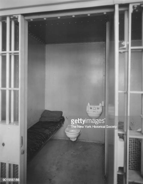 Police Station interior of one of the cells Valley Stream New York 1929