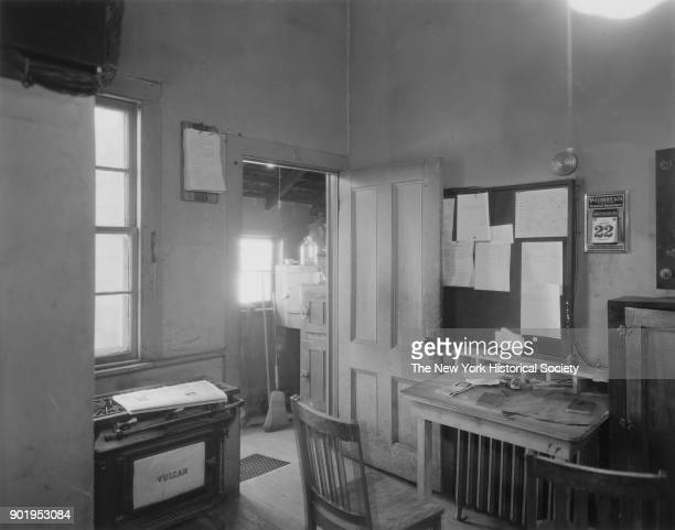 Police Station interior view of anteroom where police reports are made East Rockaway New York April 22 1932