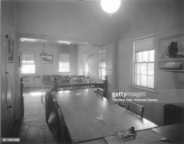 Police Station interior view of court room from judge's desk East Rockaway New York 1929