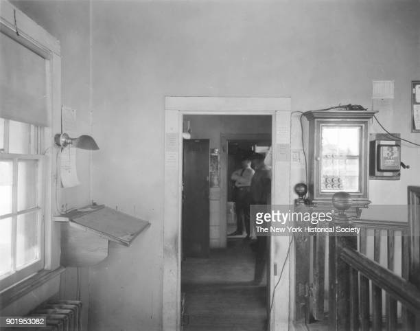 Police Station interior view of entrance to Police Court East Rockaway New York 1929