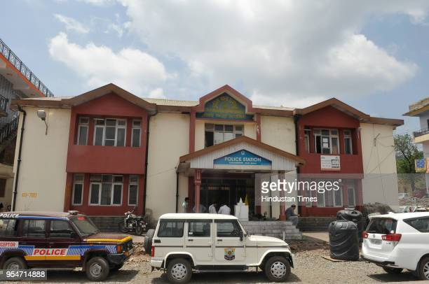 Police station where the accused Vijay Singh was interrogated for six hours at Dharampur on May 4 2018 in Kasouli India The police arrested Vijay...