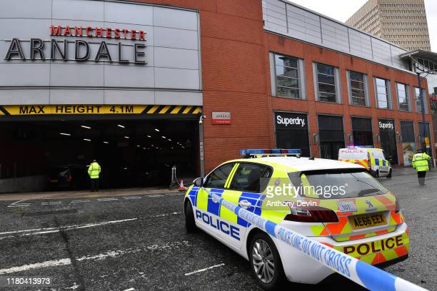 Police surround Arndale shopping centre, where a man allegedly stabbed five people on October 11, 2019 in Manchester, England. A man in his 40s was...