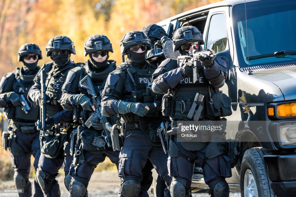 Police Swat Team at Work : Stock Photo