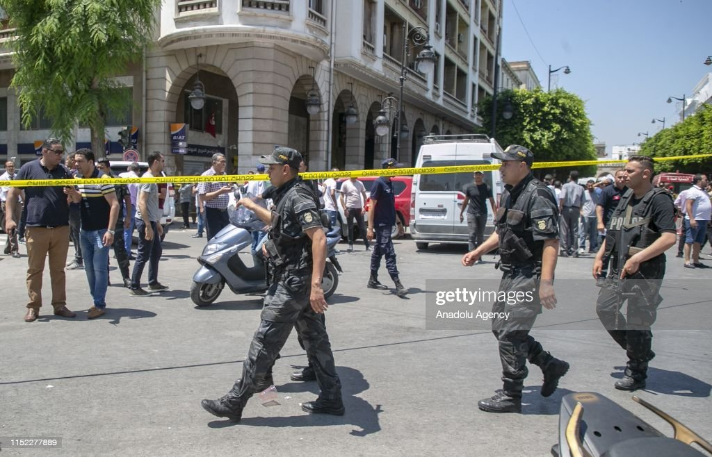 Twin suicide attacks target police in Tunis : News Photo