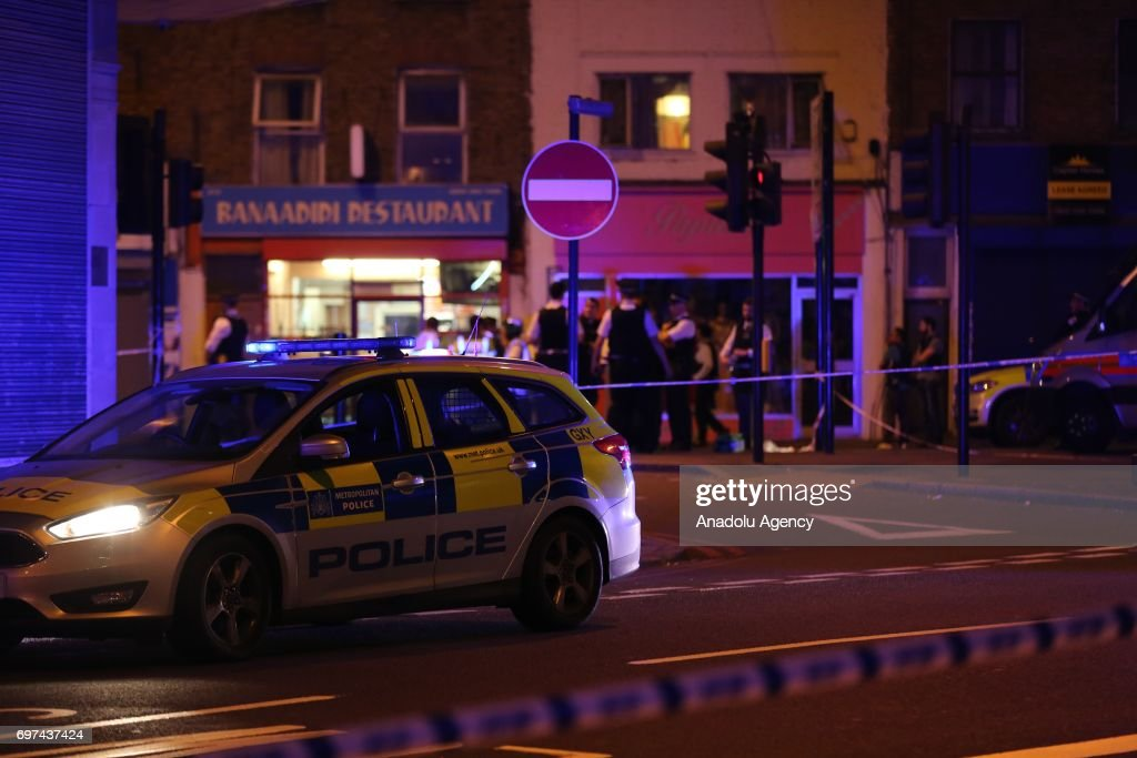 Vehicle plows into several pedestrians in London : News Photo