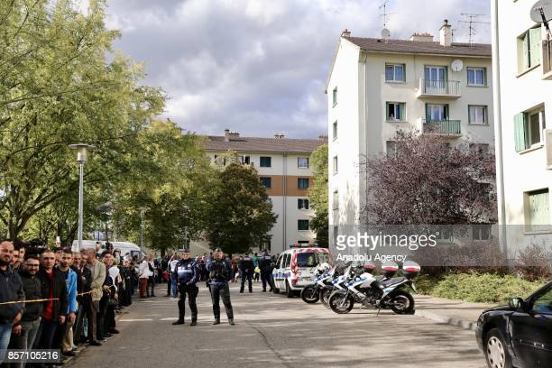 Police take security measures as Turkish Minister of Culture and Tourism, Numan Kurtulmus visits Bourtzwiller district to offer his condolences after...