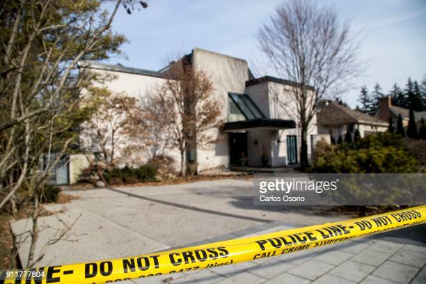 TORONTO ON JANUARY 26 Police tape around the Sherman home Friday morning Toronto police released the home back to the Sherman family Friday morning...