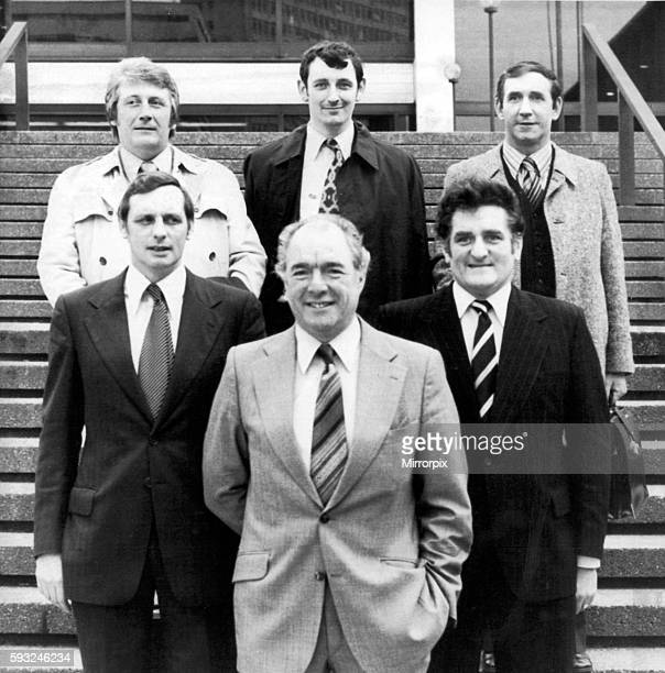 Police Team who led the hunt for serial killer Trevor Hardy pictured May 1977 Front Row Left to Right Det Captain John Bennion Det Chief Supt Tom...