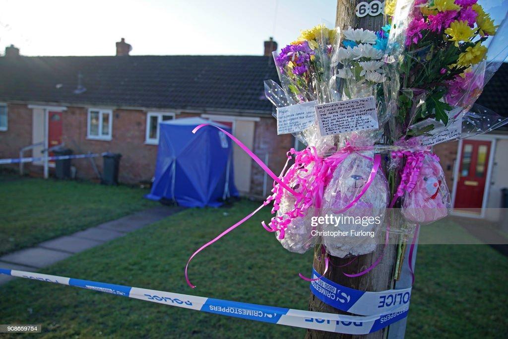 At The Home Of Mylee Billingam Who Was Stabbed To Death On Sunday