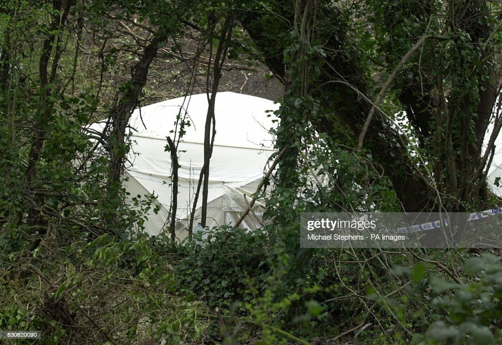 A police tent covers the spot where a body was discovered at the Blue Circle cement & Body found at cement works Pictures | Getty Images