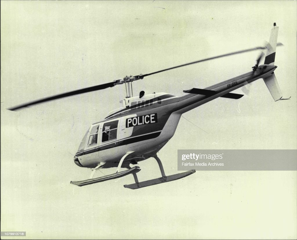 NSW Police test Copter NSW police today began a seven day