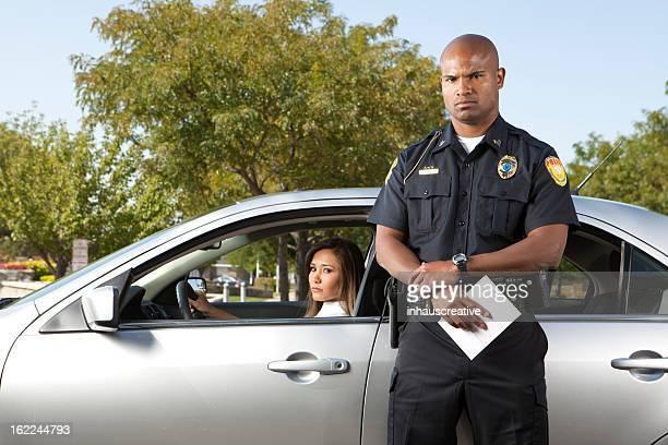 Arrêt trafic de Police femme Contrarié