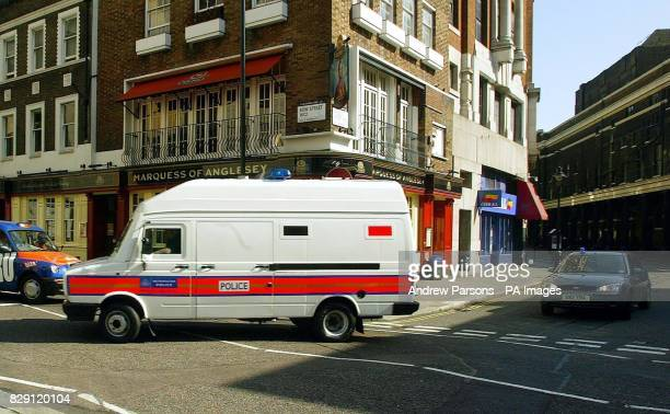 A police van carrying Babar Ahmad arrives at Bow Street Magistrates court Babar Ahmad of Fountain Road Tooting south London appeared following his...