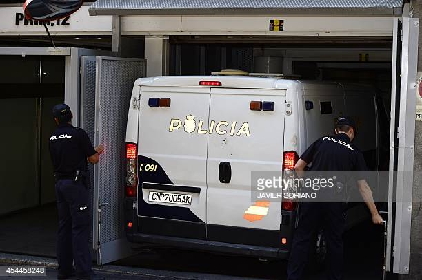 A Police van carrying the parents of Ashya King the fiveyearold British boy with a brain tumour who was taken from hospital without medical consent...