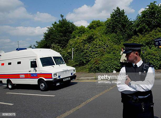 A police van carying Abu Hamza AlMasri arrives at Belmarsh magistrate court in London 27 May 2004 Abu Hamza alMasri a British hookhanded radical...