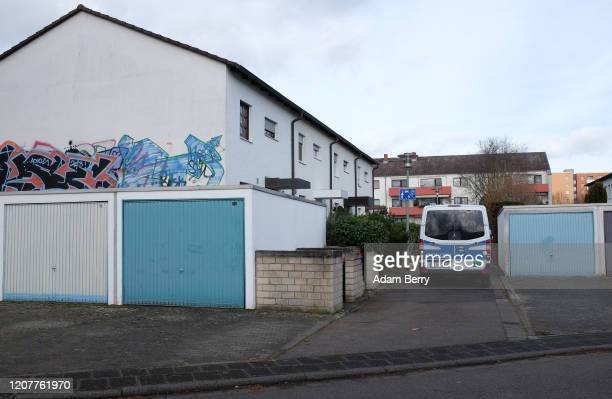 Police van is seen outside the home of alleged killer Tobias Rathjen, his and his mother's bodies still inside, as police continue investigations on...