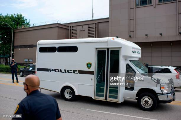 A police vehicle parks outside of the Chinese consulate in Houston Texas on July 24 after the US State Department ordered China to close it The US...