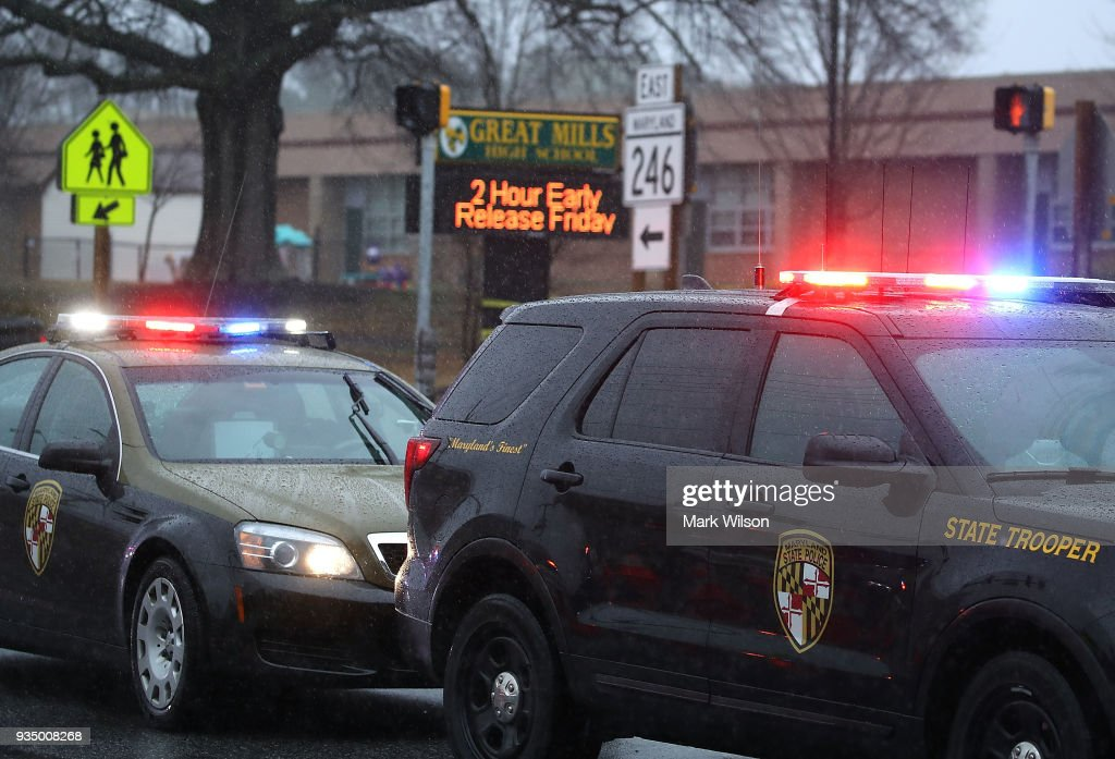 Shooting Reported At Great Mills High School In Maryland : News Photo
