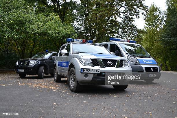 Police vehicles on the street