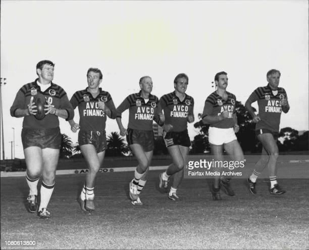 Police who are either officials or players with North Sydney Rugby League team at North Sydney.St pic L to R. Kevin Mark , Wayne Portlock, Bill...