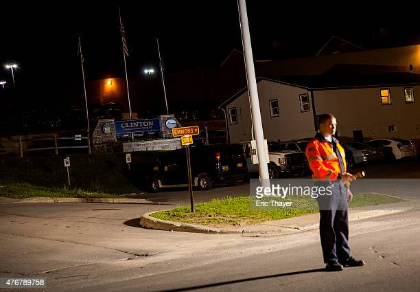 Police work a roadblock at the Clinton Correctional Facility on June 11, 2015 in Dannemora, New York. Law enforcement continue their search for two...