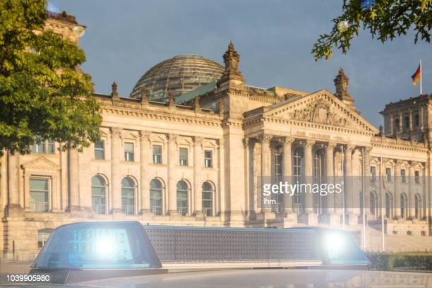 Policelights in front of the Reichstag (german parliament building) - Berlin, Germany