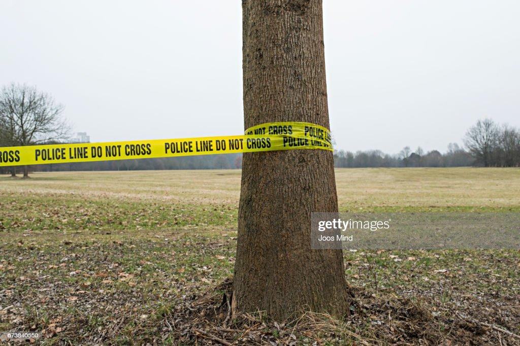 policeline do not cros : Stock Photo
