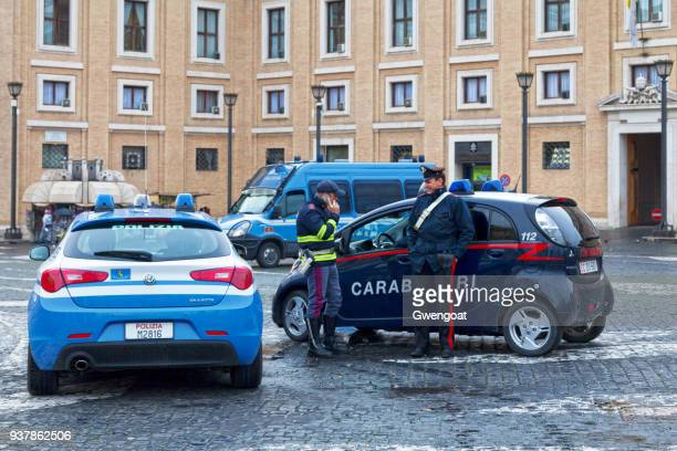 Policeman and a carabiniere