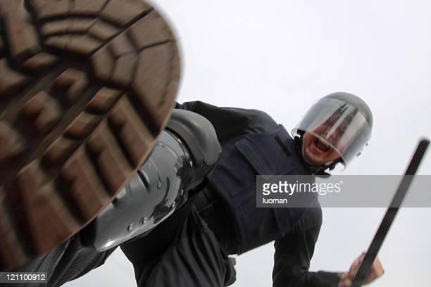 Policeman at work
