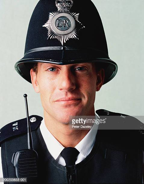 policeman, close-up, portrait - police stock pictures, royalty-free photos & images