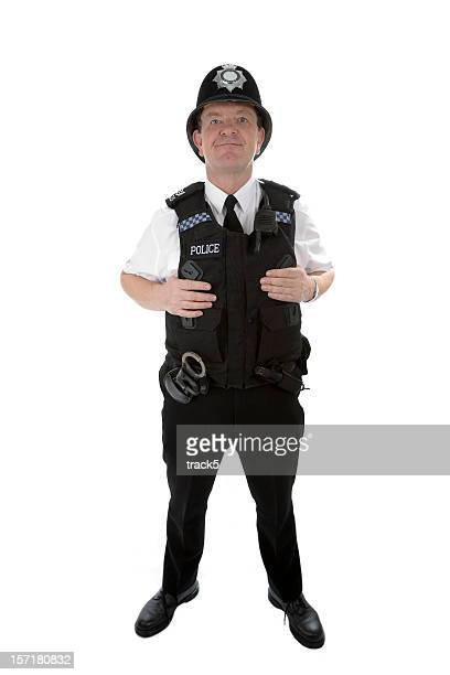 uk policeman: full length portrait of a british police officer - metropolitan police stock pictures, royalty-free photos & images